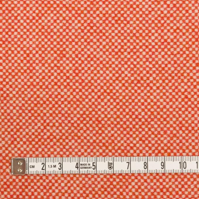 ウール&アンゴラ×ミックス(オレンジレッド)×斜子織_全4色 イメージ4