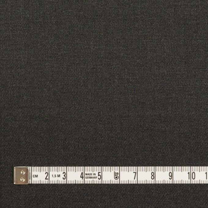 ポリエステル&ポリウレタン×無地(チャコールグレー)×サージストレッチ イメージ4