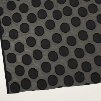 ポリエステル×サークル(ブラック)×ジョーゼット・カットジャガード サムネイル2