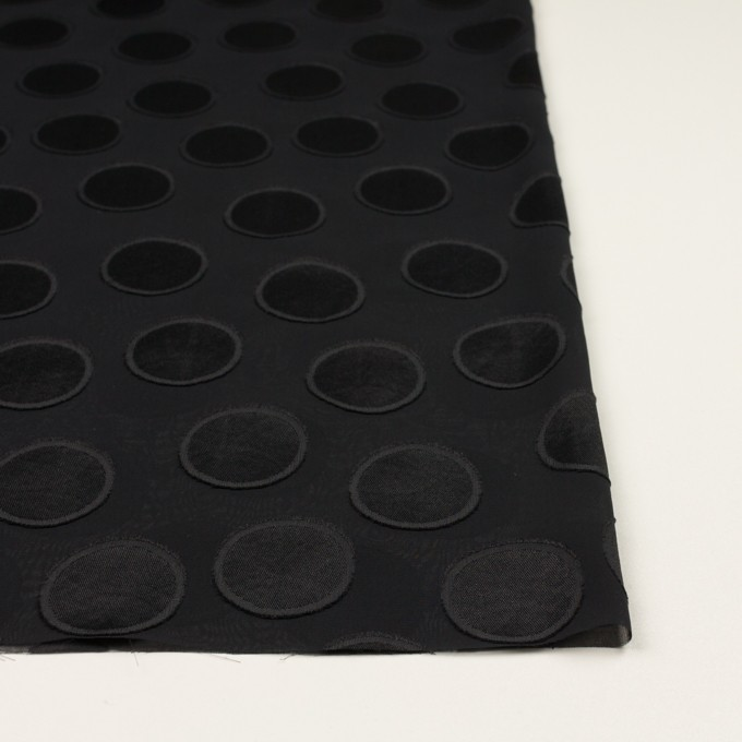 ポリエステル×サークル(ブラック)×ジョーゼット・カットジャガード イメージ3