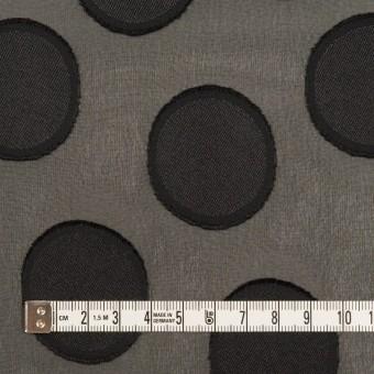 ポリエステル×サークル(ブラック)×ジョーゼット・カットジャガード サムネイル4