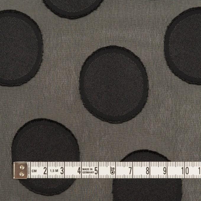 ポリエステル×サークル(ブラック)×ジョーゼット・カットジャガード イメージ4
