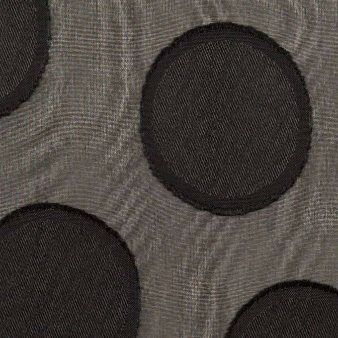 ポリエステル×サークル(ブラック)×ジョーゼット・カットジャガード イメージ1