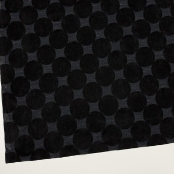 ウール&ポリエステル×サークル(ブラック&アッシュネイビー)×天竺ニット_フロッキー_全2色 サムネイル2