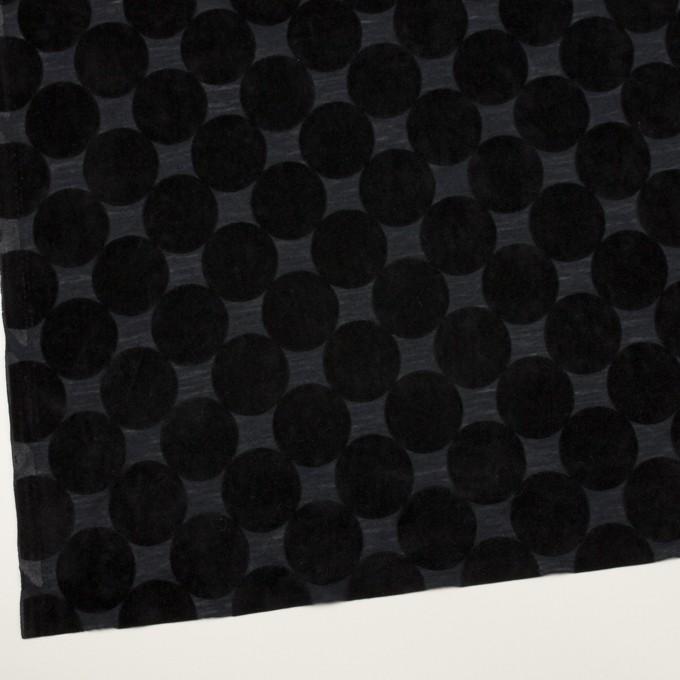 ウール&ポリエステル×サークル(ブラック&アッシュネイビー)×天竺ニット_フロッキー_全2色 イメージ2