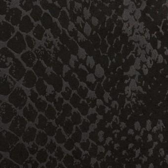 ポリエステル×スネーク(ブラック)×スエードかわり織
