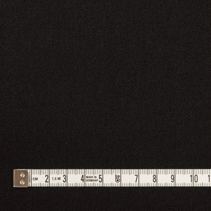 ウール×無地(ブラック)×ジョーゼット イメージ4
