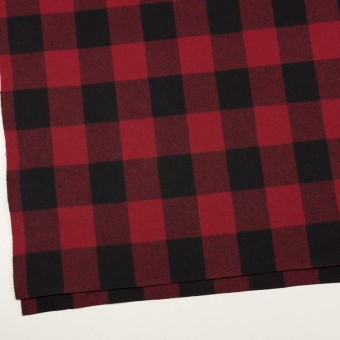 ウール×チェック(レッド&ブラック)×フラノ(フランネル)_全2色 サムネイル2