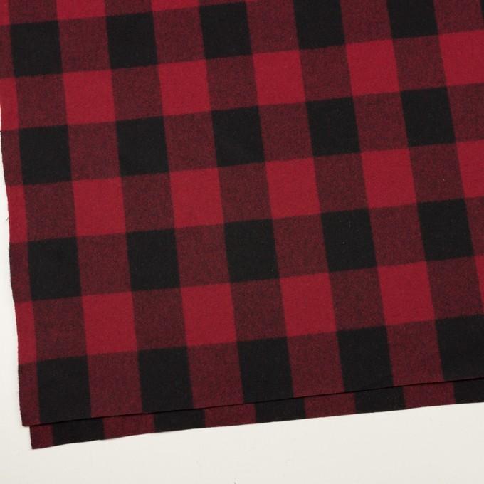 ウール×チェック(レッド&ブラック)×フラノ(フランネル)_全2色 イメージ2