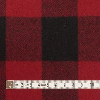 ウール×チェック(レッド&ブラック)×フラノ(フランネル)_全2色 サムネイル4
