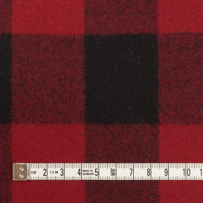 ウール×チェック(レッド&ブラック)×フラノ(フランネル)_全2色 イメージ4