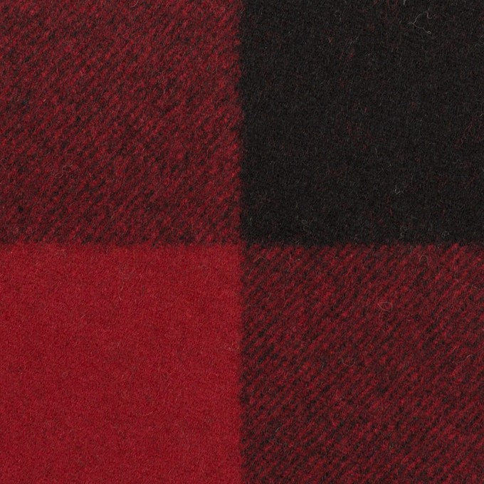 ウール×チェック(レッド&ブラック)×フラノ(フランネル)_全2色 イメージ1