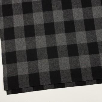 ウール×チェック(グレー&ブラック)×フラノ(フランネル)_全2色 サムネイル2