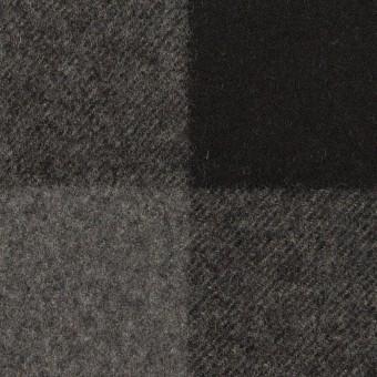 ウール×チェック(グレー&ブラック)×フラノ(フランネル)_全2色