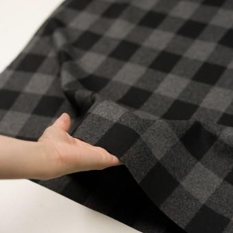 ウール×チェック(グレー&ブラック)×フラノ(フランネル)_全2色 サムネイル5