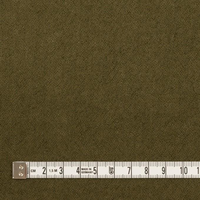 ウール×無地(カーキグリーン)×ガーゼ_全2色 イメージ4