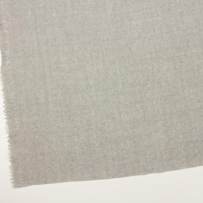 ウール×無地(ライトグレー)×ガーゼ イメージ2