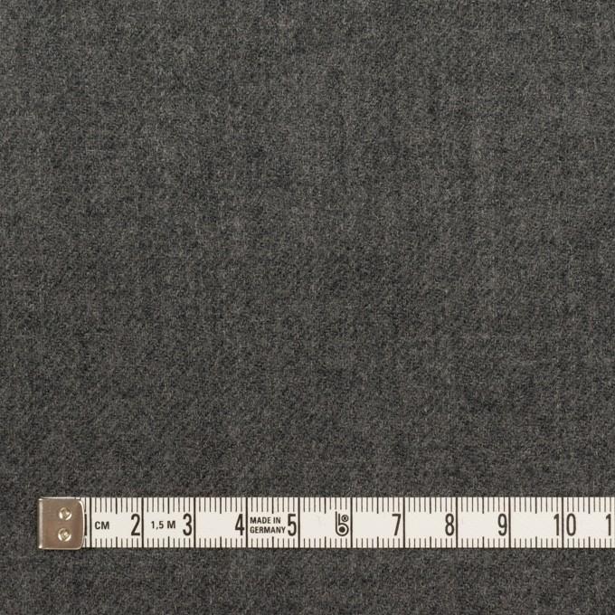 ウール×無地(チャコールグレー)×ガーゼ イメージ4