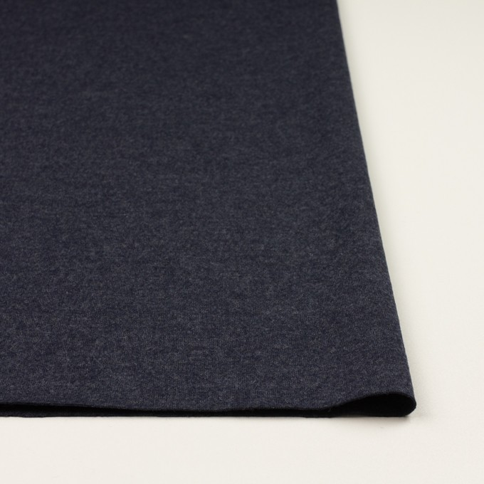 ウール&ナイロン×無地(アッシュネイビー)×圧縮ニット_全2色 イメージ3
