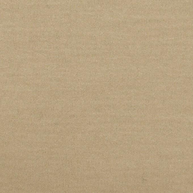 ウール×無地(カーキベージュ)×圧縮ニット イメージ1