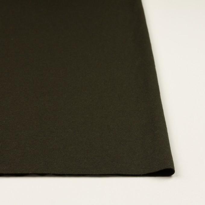 ウール×無地(ディープカーキグリーン)×天竺ニット イメージ3