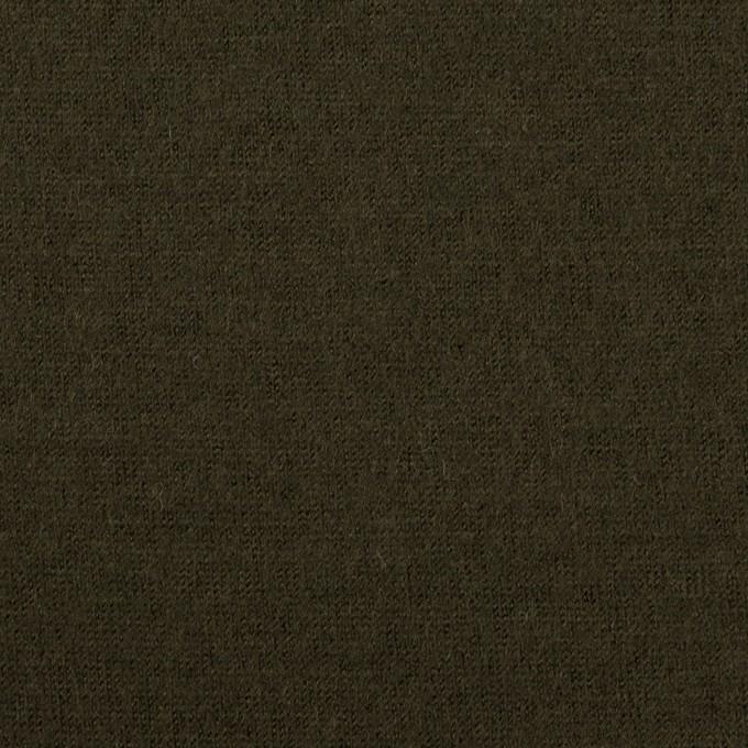 ウール×無地(ディープカーキグリーン)×天竺ニット イメージ1