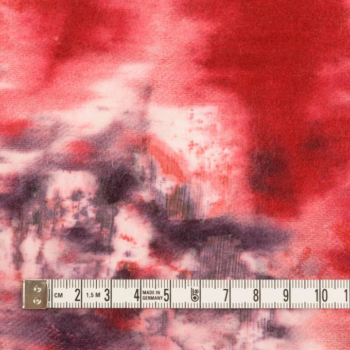 コットン&ウール×ペイント(レッド)×ボイルカットジャガード_全2色 イメージ4