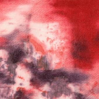 コットン&ウール×ペイント(レッド)×ボイルカットジャガード_全2色