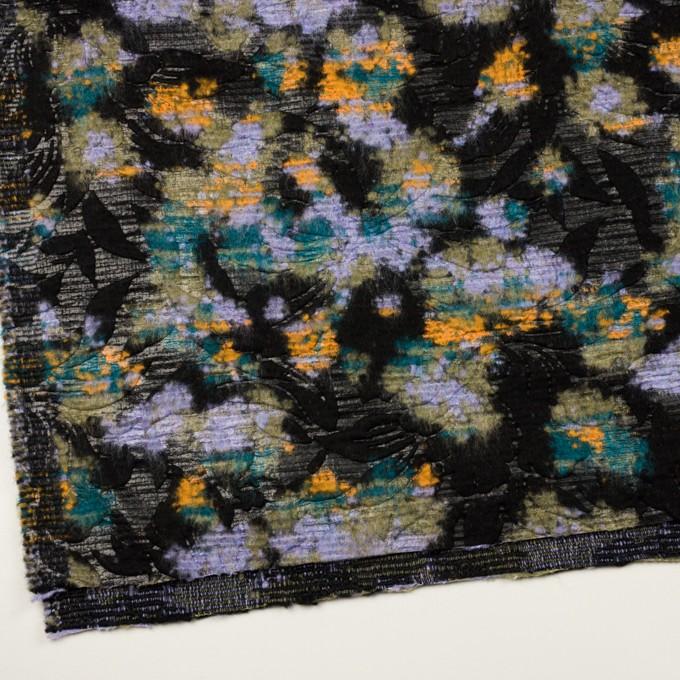ウール&ポリエステル混×フラワー(マルチ)×ジャガード(型押し) イメージ2