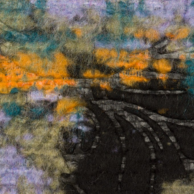 ウール&ポリエステル混×フラワー(マルチ)×ジャガード(型押し) イメージ1
