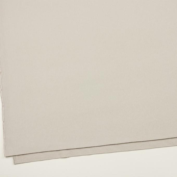 ウール×無地(オイスターグレー)×ソフトメルトン イメージ2