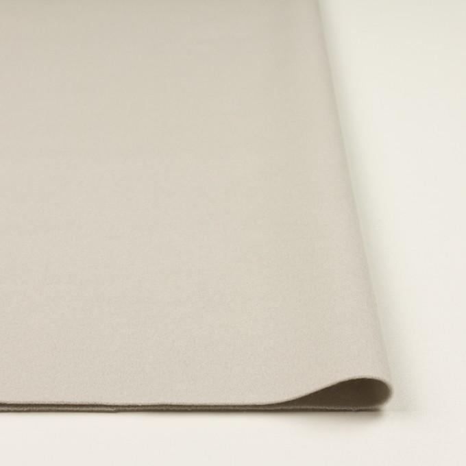ウール×無地(オイスターグレー)×ソフトメルトン イメージ3
