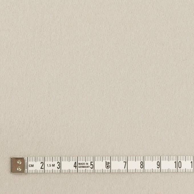 ウール×無地(オイスターグレー)×ソフトメルトン イメージ4