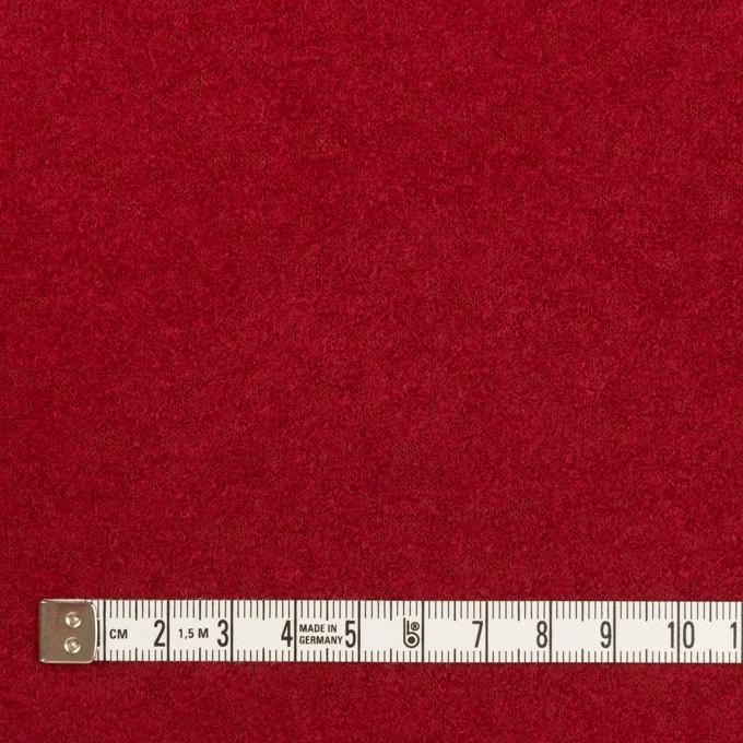 ウール&ナイロン×無地(バーガンディーレッド)×ループニット イメージ4