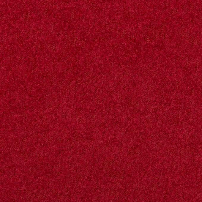 ウール&ナイロン×無地(バーガンディーレッド)×ループニット イメージ1