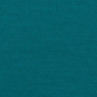 ウール×無地(エメラルドブルー)×圧縮ニット