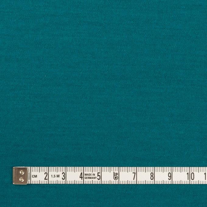 ウール×無地(エメラルドブルー)×圧縮ニット イメージ4