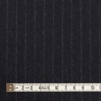 ウール×ストライプ(ダークネイビー)×サージ サムネイル4