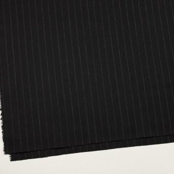 ウール×ストライプ(ブラック)×サージ サムネイル2