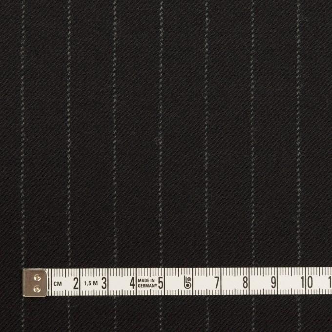 ウール×ストライプ(ブラック)×サージ イメージ4