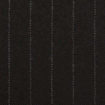 ウール×ストライプ(ブラック)×サージ