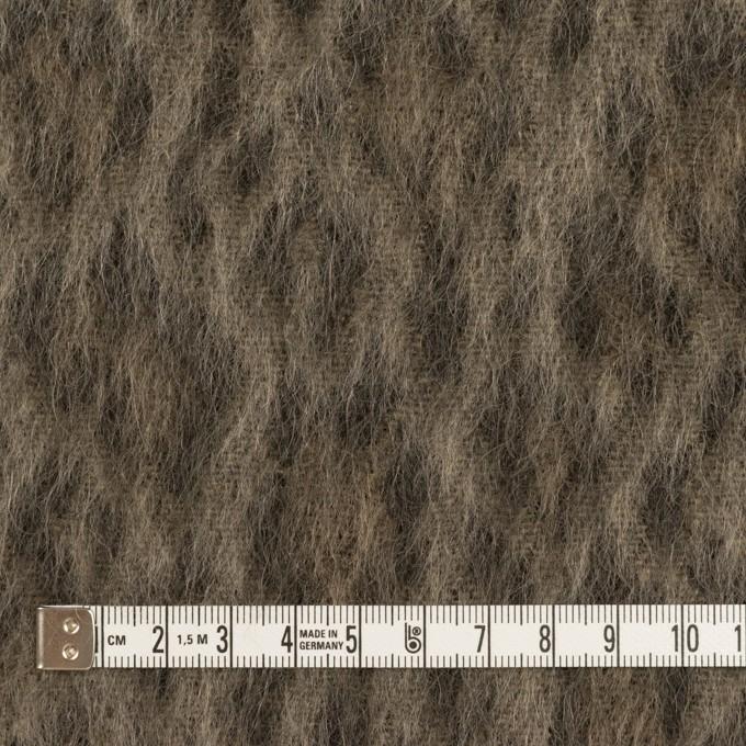 ウール&アクリル混×レオパード(アッシュブラウン)×シャギー イメージ4