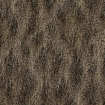 ウール&アクリル混×レオパード(アッシュブラウン)×シャギー