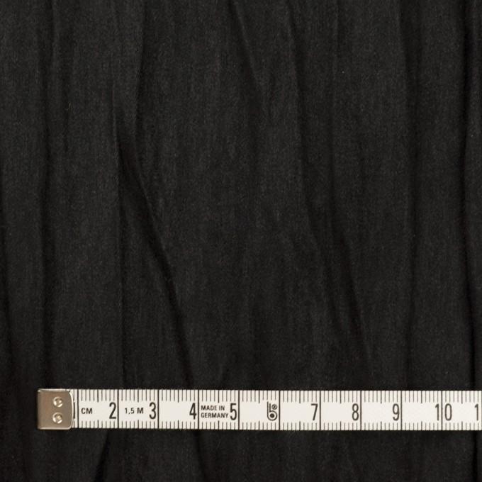 ポリエステル×無地(ブラック)×スエードかわり織(プリーツ加工) イメージ4