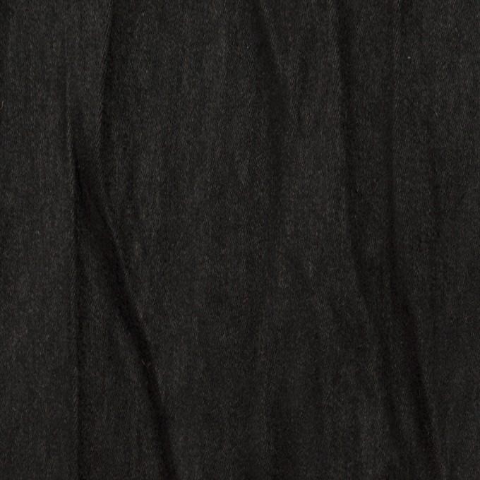 ポリエステル×無地(ブラック)×スエードかわり織(プリーツ加工) イメージ1