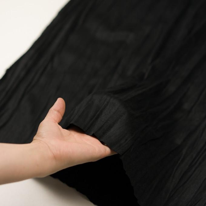 ポリエステル×無地(ブラック)×スエードかわり織(プリーツ加工) イメージ5
