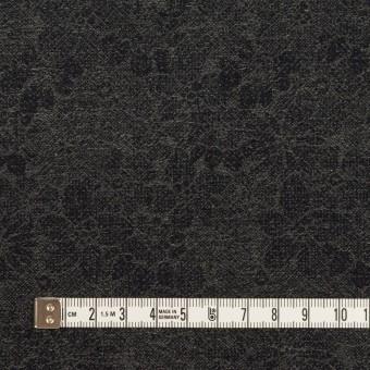 ウール&コットン×フラワー(チャコールグレー&ダークネイビー)×ジャガード サムネイル4