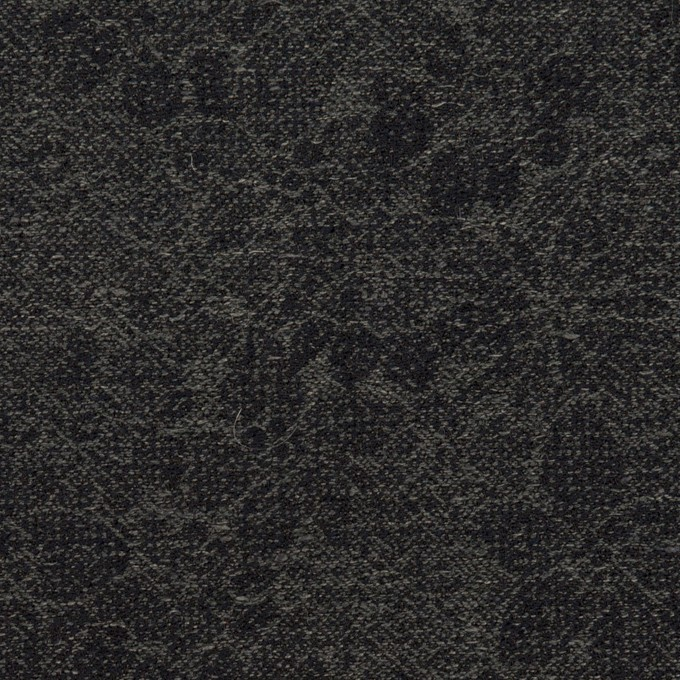 ウール&コットン×フラワー(チャコールグレー&ダークネイビー)×ジャガード イメージ1