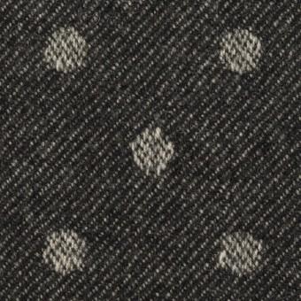 ウール×水玉&無地(ダークネイビー&ブラック)×ジャガード&ビーバー(Wフェイス)