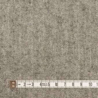コットン×ミックス(グレー)×ヘリンボーン_フロッキー_イタリア製 サムネイル4